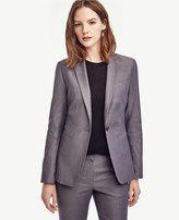 Ann Taylor Tall Sharkskin Single Button Blazer