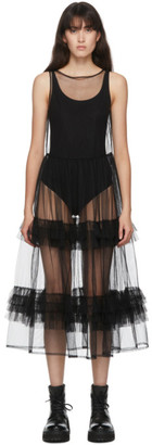 Molly Goddard SSENSE Exclusive Black Aria Dress