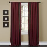Lush Decor Charming Sand Window Curtain Panel, 84 by 40-Inch, Red/Brown, Set of 2