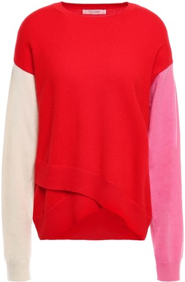 Parker Chinti & Layered Color-block Cashmere Sweater