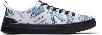 Toms Star Wars X White Character Sketch Print TRVL LITE low Women's Sneakers