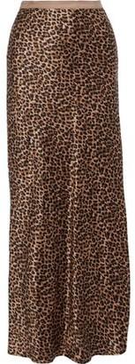 Nili Lotan Maya Leopard-print Silk-charmeuse Maxi Skirt