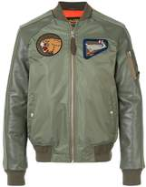 Schott contrast bomber jacket