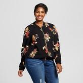 Ava & Viv Women's Plus Size Floral Print Bomber Jacket