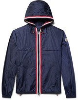 Moncler Anton Webbing-Trimmed Nylon Hooded Jacket