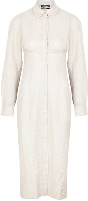 Jacquemus La Robe Cavaou ecru cotton-blend shirt dress