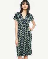 Ann Taylor Tall Verbena Short Dolman Sleeve Wrap Dress