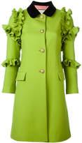 Gucci flounce coat