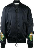 Off-White tiger embroidered bomber jacket - men - Polyester/Viscose - M