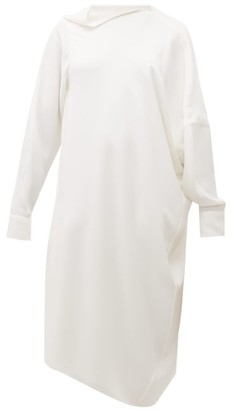 Hillier Bartley Pillowcase Asymmetric Crepe Midi Dress - Ivory
