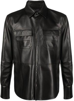 Amiri Leather Shirt Jacket