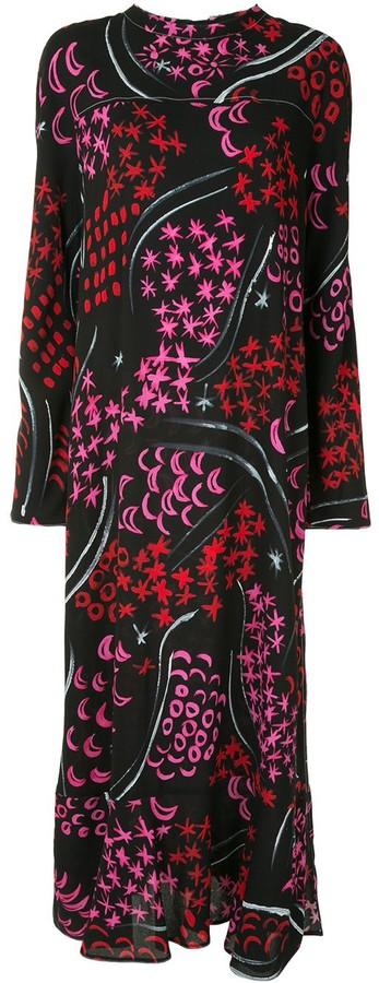 Marni Star-Print Long Dress