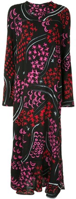 Marni Star-Print Long Dress