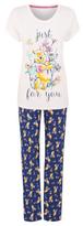 Disney George Winnie the Pooh Pyjama Top and Bottoms Set