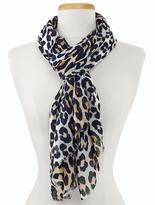 Talbots Animal-Blocked Scarf
