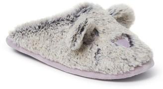 Dearfoams Furry Critter Scuff Slippers