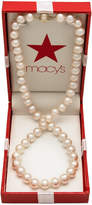 Belle de Mer AA Cultured Freshwater Pearl Strand Necklace (7-1/2-8-1/2mm)