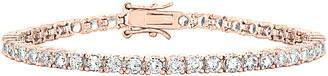 Genevive 14K Rose Gold Over Silver Cz Tennis Bracelet