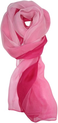 Ted And Jack Ted & Jack - Silk Ombre Lightweight Accent Scarf - Beige - One Size