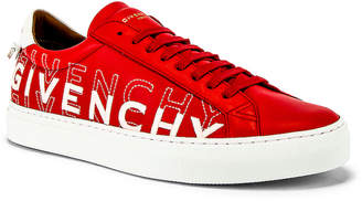 Givenchy Urban Street Low Sneakers in Red & White | FWRD