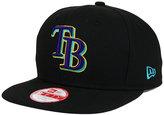 New Era Tampa Bay Rays Aqua Hook Basic 9FIFTY Snapback Cap