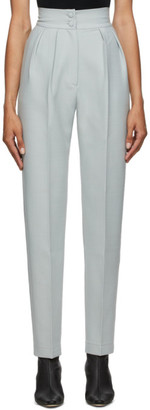 MATÉRIEL Grey Wool High-Waist Trousers