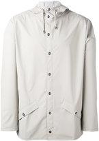 Rains flap pocket hooded jacket