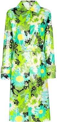 Moncler x Richard Quinn Charlie floral trench coat