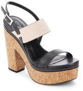 Charles by Charles David Jangle Leather Platform Cork Sandals