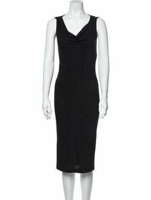 Dolce & Gabbana Vintage Midi Length Dress Black