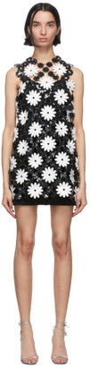 Paco Rabanne Black and White Daisy Mini Dress