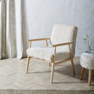 The White Company Sheepskin Chair, Pearl, One Size