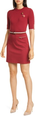 Ted Baker Colour by Numbers Elsbeth Mixed Media Dress