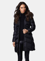 Thumbnail for your product : Dawn Levy Cloe Gem Fitted Puffer Coat with Fox Fur Collar