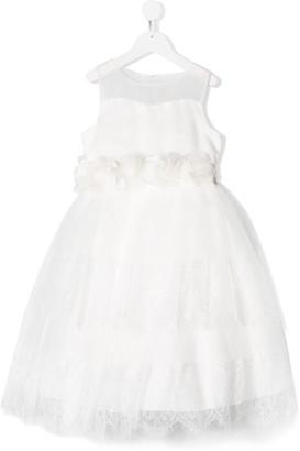 Miss Blumarine Lace Overlay Dress