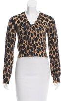 Dolce & Gabbana Leopard Print Cropped Sweater