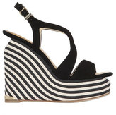 Paloma Barceló 140mm Lena Suede Wedge Sandals