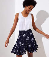 LOFT Wild Bouquet Flounce Skirt