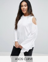 Asos Top with Cold Shoulder and Kimono Sleeve