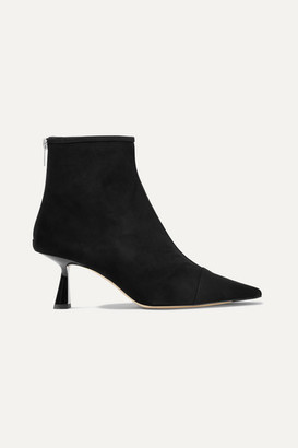 Jimmy Choo Kix 65 Suede Ankle Boots - Black