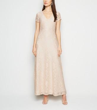 New Look Mela Sequin Lace Maxi Dress