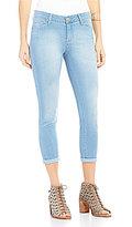 Celebrity Pink Roll Cuff Skinny Stretch Crop Jeans