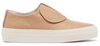 Primury - Paper Planes Slip-on Leather Trainers - Beige