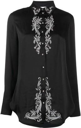 Paco Rabanne Embroidered Floral Shirt