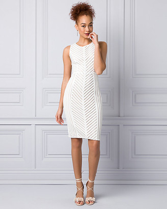 Le Château Ribbon Lace Scoop Neck Dress