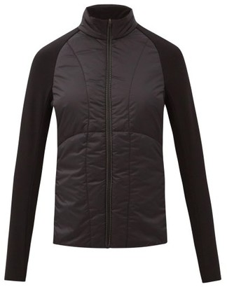 Falke Zipped Quilted-shell Technical-jersey Thermal Top - Black