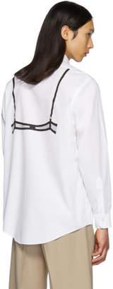 Random Identities White Mesh Back Bra Shirt