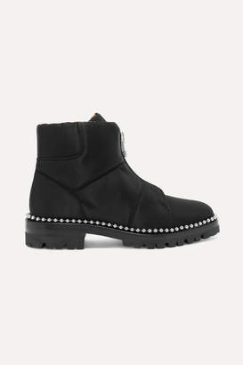 Alexander Wang Cooper Studded Canvas Ankle Boots - Black