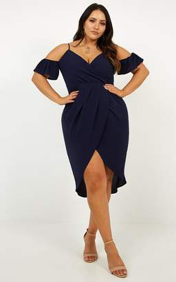 Showpo A Fair Go Dress in Navy - 6 (XS) Dresses