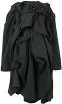 Yohji Yamamoto frill embroidered coat